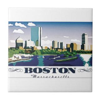 Boston, Massachusetts Small Square Tile