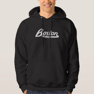 Boston Massachusetts Vintage Logo Hoodie