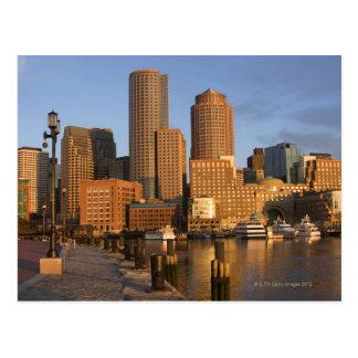Boston, Massachusetts Waterfront Postcard