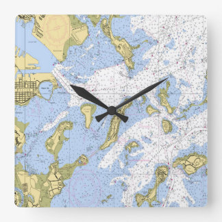 Boston Nautical Map clock
