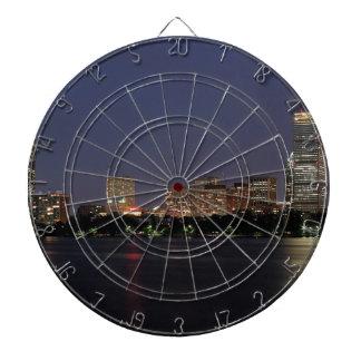 Boston Night Skyline Dartboard