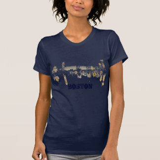 Boston Night Skyline T-Shirt