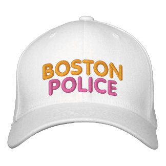 Boston Police Embroidered Funny Hat Embroidered Hat