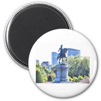 Boston Public Garden 6 Cm Round Magnet
