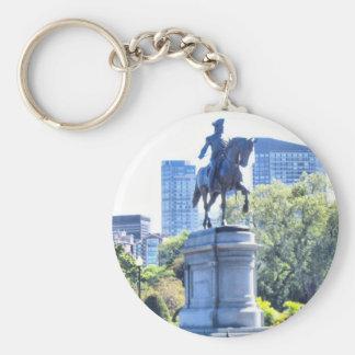 Boston Public Garden Basic Round Button Key Ring