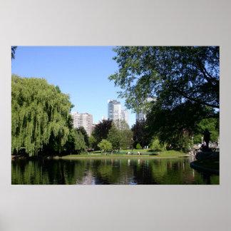 Boston Public Garden Poster