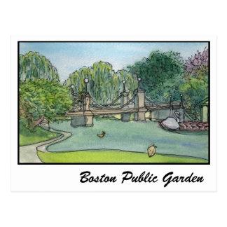 Boston Public Garden Swan Boats Postcard