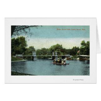 Boston Public Garden View of the Bridge Greeting Card