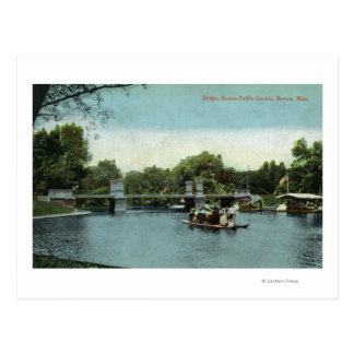 Boston Public Garden View of the Bridge Postcard