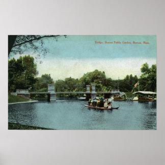 Boston Public Garden View of the Bridge Print