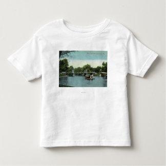 Boston Public Garden View of the Bridge T Shirts