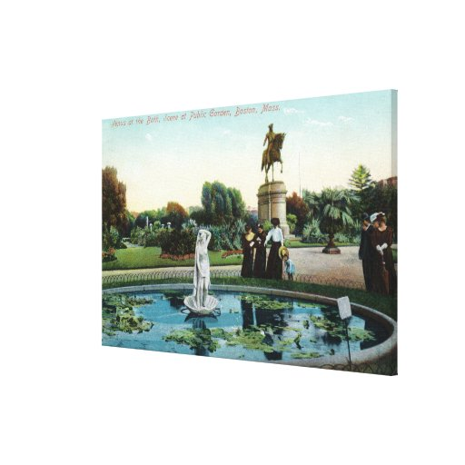 Boston Public Garden View of Venus at the Bath Stretched Canvas Prints