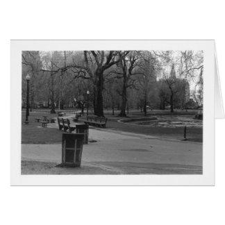 Boston Public Gardens, Pond Greeting Card