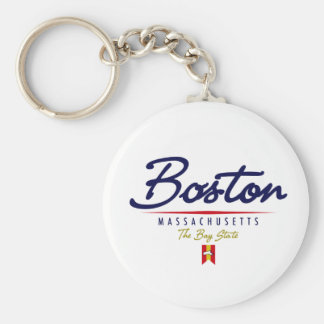 Boston Script Key Ring
