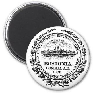Boston Seal 6 Cm Round Magnet