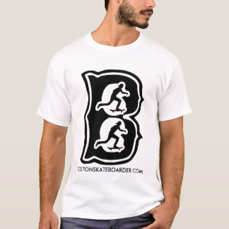 Boston Skateboarder B By Manny Santiago T-Shirt