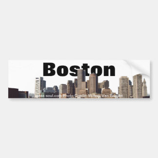 Boston Skyline Bumper Sticker