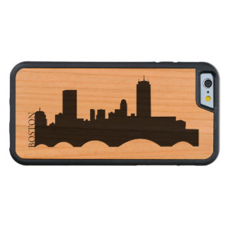 Boston Skyline Carved Cherry iPhone 6 Bumper Case
