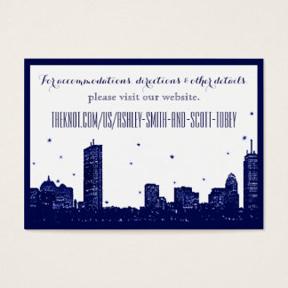 Boston Skyline Dark Blue on white Insert Card