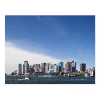 Boston Skyline, Massachusetts Postcard