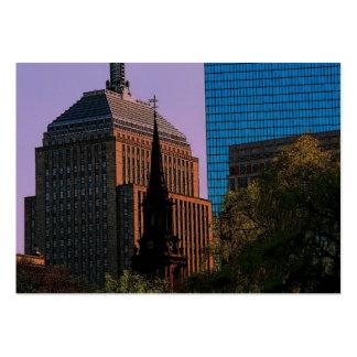 Boston Skyline Profile Card Business Card