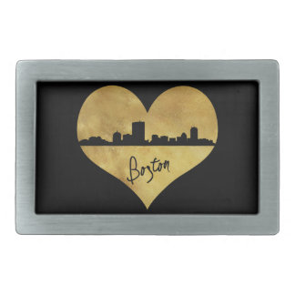 Boston Skyline Rectangular Belt Buckle