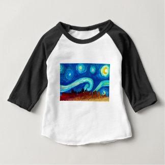 Boston Skyline Silhouette with Starry Night Baby T-Shirt