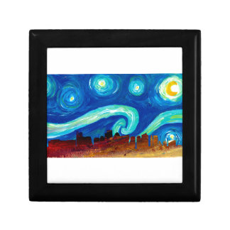 Boston Skyline Silhouette with Starry Night Gift Box