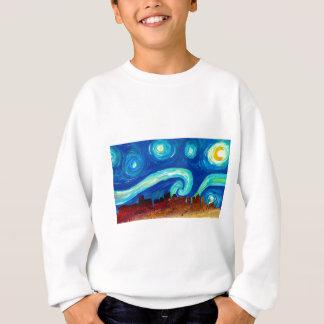 Boston Skyline Silhouette with Starry Night Sweatshirt
