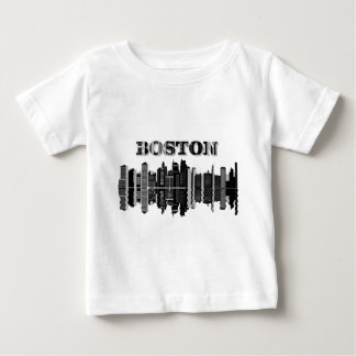 Boston Skyline Typography Baby T-Shirt
