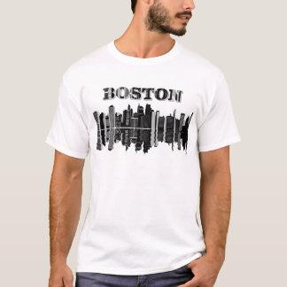 Boston Skyline Typography T-Shirt