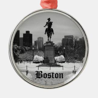 Boston Snow Ornament