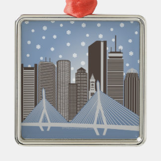 Boston Snowflakes Metal Ornament