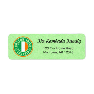 Boston Southie Irish American Address Labels