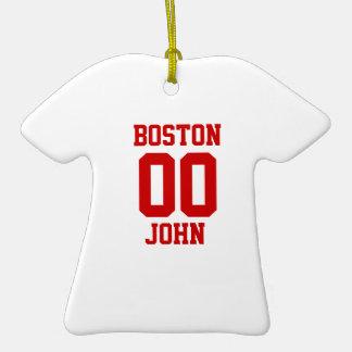 Boston Sports Jersey Template Ornaments