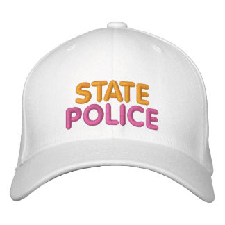 Boston State Police Embroidered Funny Hat Embroidered Hats