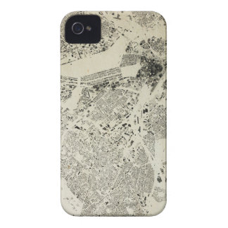 Boston Streets and Buildings Map Antic Vintage iPhone 4 Cover
