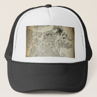Boston Streets and Buildings Map Antic Vintage Trucker Hat