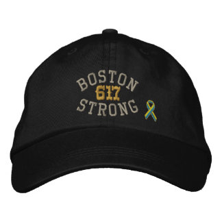 Boston Strong 617 Ribbon Edition Embroidered Baseball Cap
