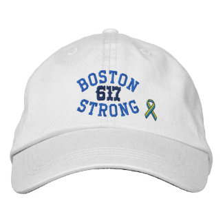 Boston Strong 617 Ribbon Edition Embroidered Hat