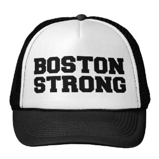 boston strong black text hat