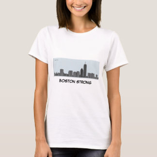 Boston Strong - Boston Skyline as bar chart - geek T-Shirt