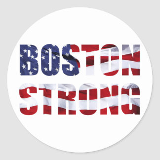 BOSTON STRONG CLASSIC ROUND STICKER