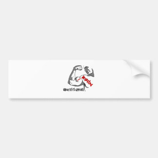 Boston Strong Muscle Bumper Stickers