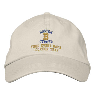 Boston Strong Personalizable EDIT TEXT Embroidered Hats