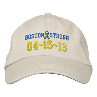 Boston Strong Ribbon 04-15-13 Embroidery Cap Embroidered Hats