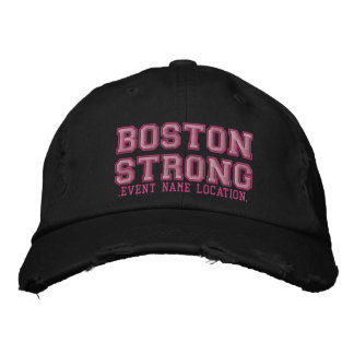 Boston Strong Ribbon Edition Cap Personalize it! Embroidered Hat