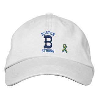 Boston Strong Ribbon Personalizable EDIT TEXT Embroidered Hat