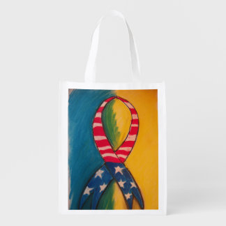 boston strong ribbon shopping bag