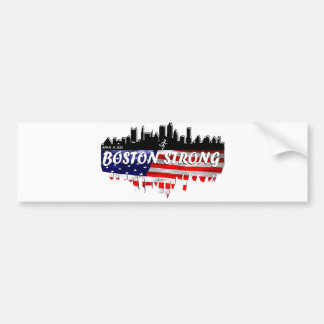 Boston Strong Run Bumper Sticker